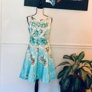 Floral Flare Sleeveless Dress